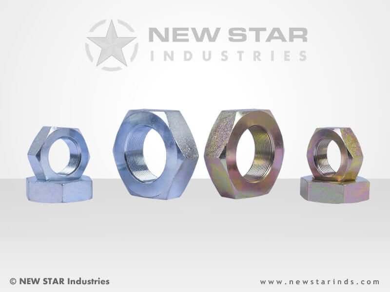CNC Machined Hex Nuts by NEW STAR Industries - Ludhiana, Punjab, INDIA.