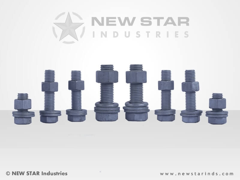 Hot Dip Galvanized Fasteners by NEW STAR Industries - Ludhiana, Punjab, INDIA.