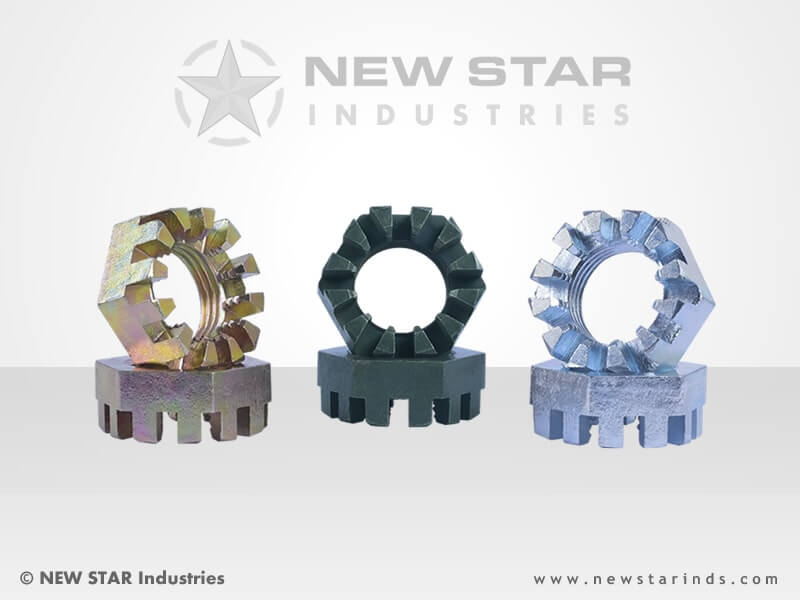Hot Forged Slotted Nuts by NEW STAR Industries - Ludhiana, Punjab, INDIA.